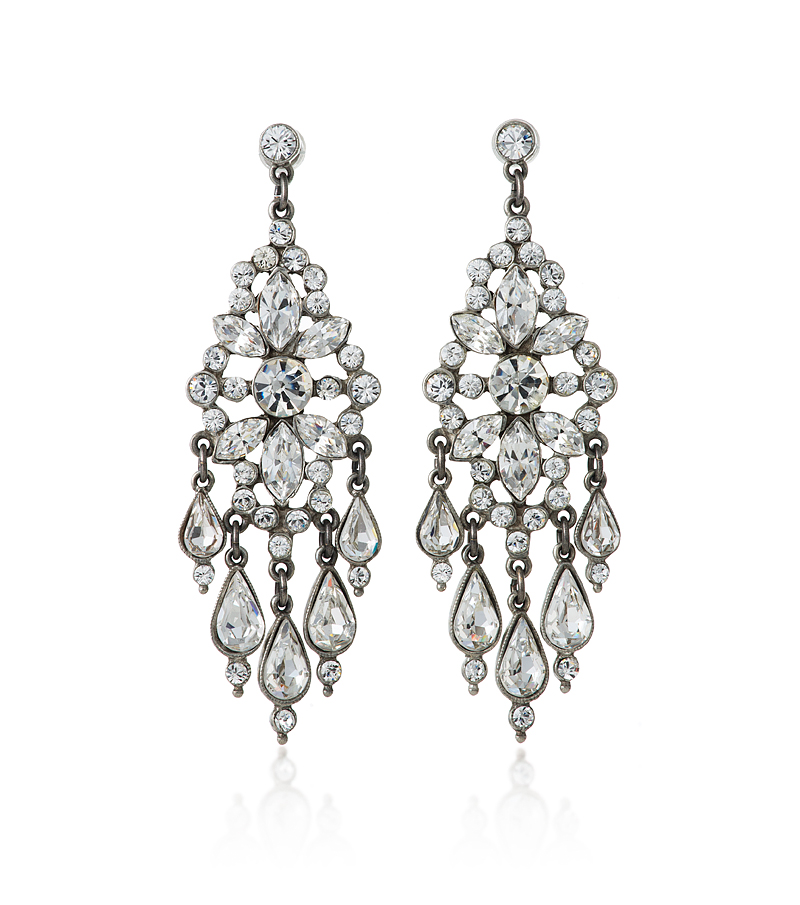 bridal crystal chandelier earrings
