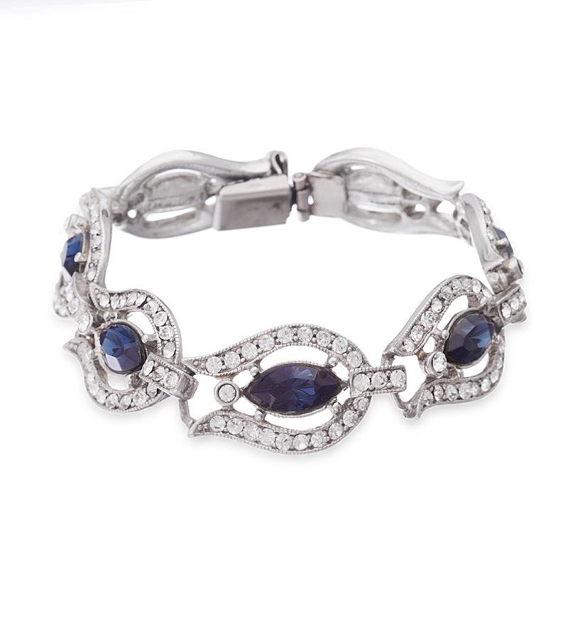 blue bridal bracelets