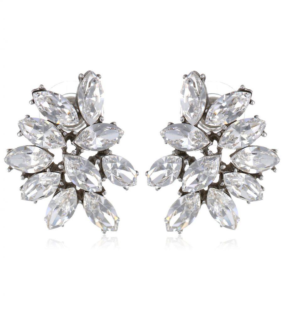 marquise crystal cluster earrings