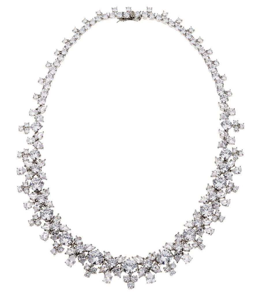 CZ Statement bridal necklace