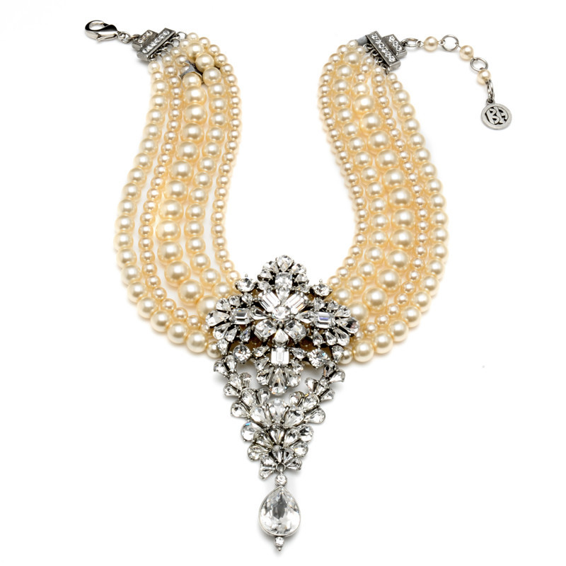 pearl statement necklace bridal jewelry