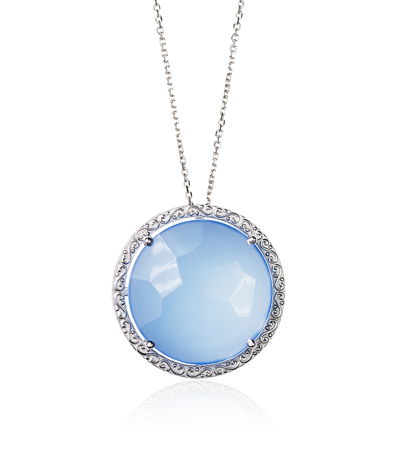 blue bridal necklace - something blue